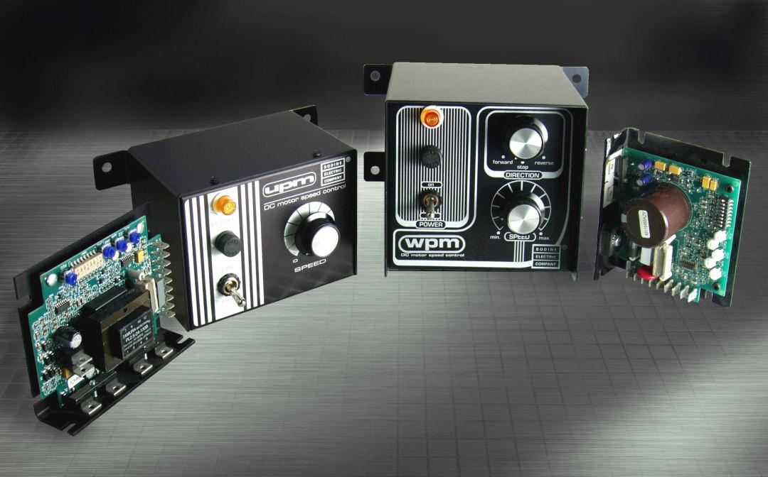 Bodine Type WPM & UPM DC Motor Speed Controls (Low Voltage 0-12V, 0-24V; or 115VAC-in, 0-90V, 0-130V)