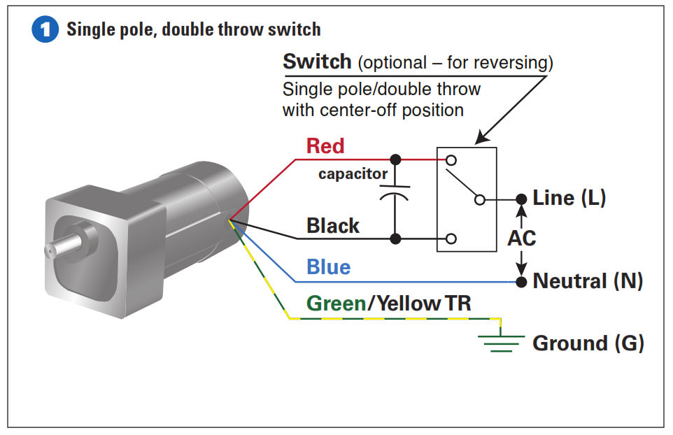 How To Connect a Reversing Switch to a 3- or 4-Wire (PSC) Gearmotor -  Bodine - Gearmotor BlogBodine Electric Company