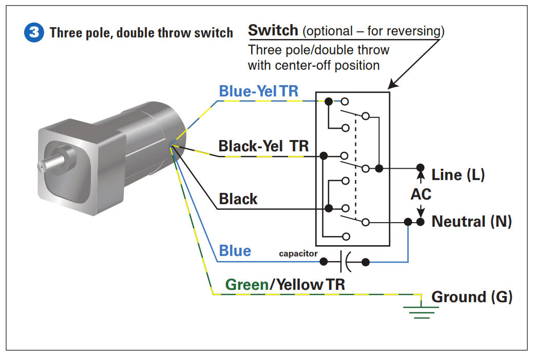how to connect a reversing switch to a 3 or 4 wire (psc dayton electric motor wiring diagram bodine electric motor wiring diagram #6
