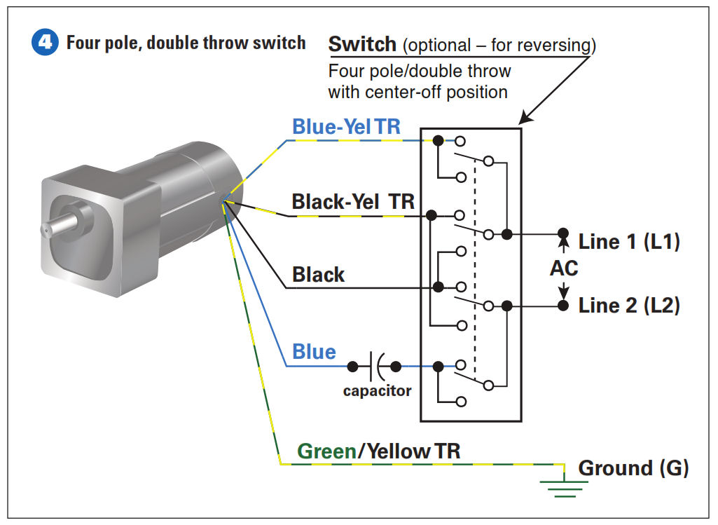 ac 3 prong rocker switch wiring diagram how to connect a reversing switch to a 3 or 4 wire  psc  reversing switch to a 3 or 4 wire