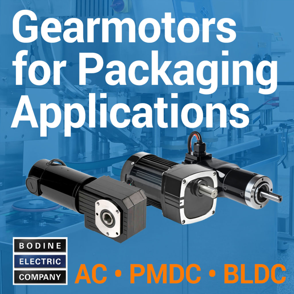 Bodine Gearmotors for Packaging Applications
