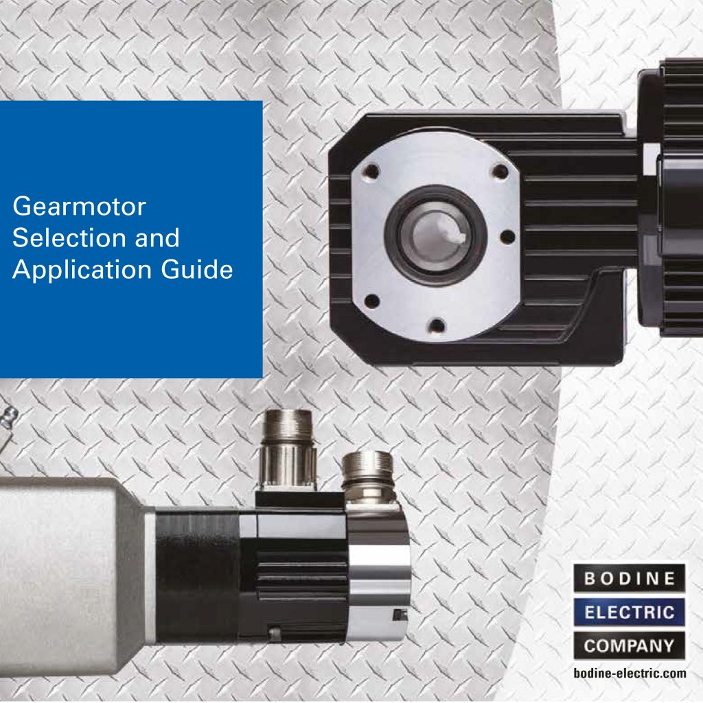 New Gearmotor Selection and Application Guide