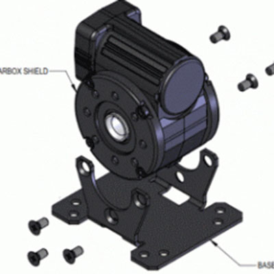 Base Mount Kit for 5L/H Hollow Shaft Gearmotors [model 0958]