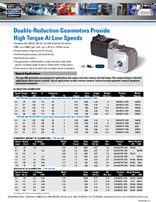 Type 3RD - Double Reduction, Right-Angle Gearmotors
