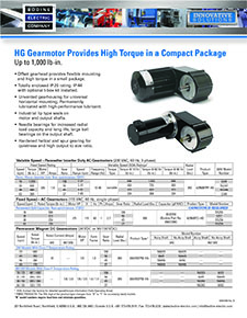 High Torque Type HG, AC and PMDC Gearmotors - up to 1000 lb-in