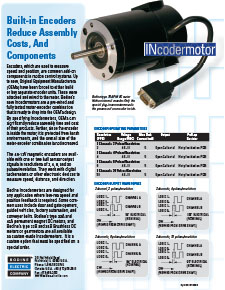 Internal (Built-In) Encoder Options for OEM Applications