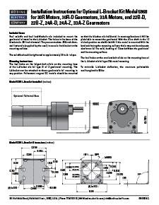 BODINE ELECTRIC 5968 L BRACKET FOR 30R MOTORS NEW