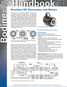 Updated Handbook Section: BLDC Gearmotors and Motors