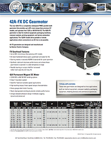 42A5-FX High-Performance PMDC Gearmotors 90/130 VDC or 12/24 VDC