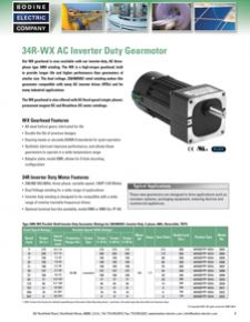 34R-WX Parallel Shaft AC 3-Phase Inverter Duty Gearmotor