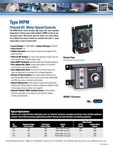 WPM - Filtered DC Motor Speed Controls [115VAC Input]