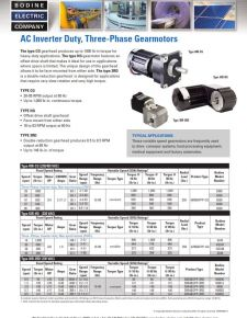 Inverter Duty AC - Type 30R-3RD, 42R-HG and 48R-CG
