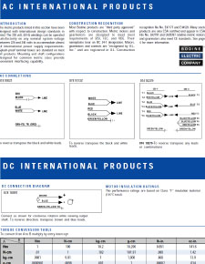Technical information and Connection Diagrams for AC and PMDC Gearmotors and Motors [Metric]