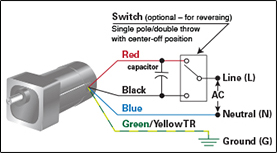 application notes \u003e bodine electric companyhow to connect a reversing switch to a 3 or 4 wire (psc) gearmotor